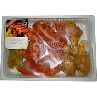 Embutidos Moreno Plaza Surtido barbacoa pollo Bandeja 1,25 kg