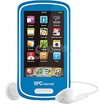 SPC TELECOM 5074A Reproductor MP5 multimedia TFT 2,8'' de 4 GB con cámara en color azul