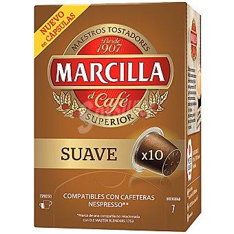 MARCILLA Suave Café mezcla ápsulas estuche 52 g 10 c