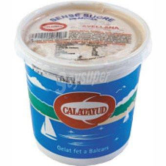 Calatayud Helado de avellana sin azúcar Tarrina 450 g