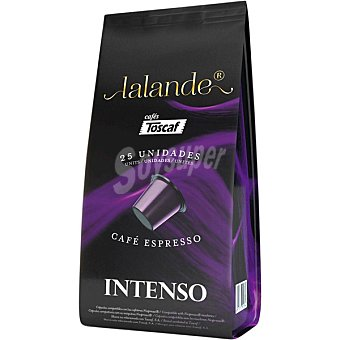 Lalande Café espresso intenso en cápsulas envase 25 unidades envase 25 unidades