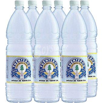Fuenteror Agua mineral natural sin gas Pack 6 botellas 1,5 l