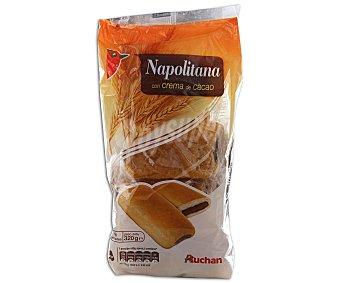 Auchan Napolitanas con crema de cacao 8 unidades 320 gramos