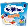 Postre Lácteo de Fresa y Plátano desde 8 meses Sin Gluten 4x100 G Pack 4 x 100 g Yogolino Nestlé