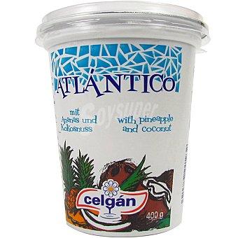 CELGAN Atlánticos bio yogur con piña y coco  envase 400 g