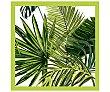 Servilletas desechables, estampado hojas verdes, 33x33cm., triple capa 20 uds Actuel