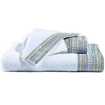 CASACTUAL Clara toalla jacquard sábana en color blanco con cenefa