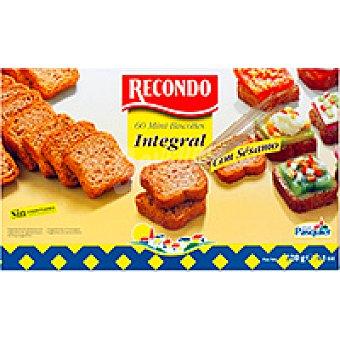 Recondo Mini biscottes integrales con sésamo Paquete 120 g