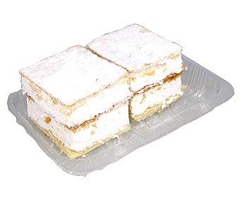 Merengue Milhojas de hojaldre rellenas de , , 2 uds 160 gr