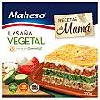 Lasaña vegetal con bechamel para horno y microondas estuche 300 g Maheso