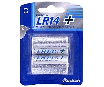 Auchan Pilas alcalinas LR14C+ Power, 1,5V 2 unidades
