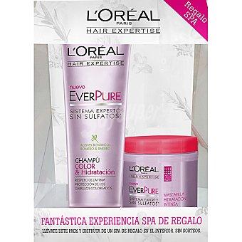 Expertise L'Oréal Paris Champú everpure Color & Hidratación + mascarilla everpure hidratación intensa