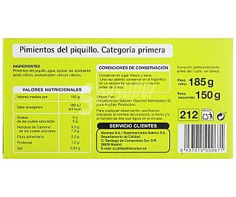 Productos Económicos Alcampo Pimientos del piquillo enteros, 150 gramos