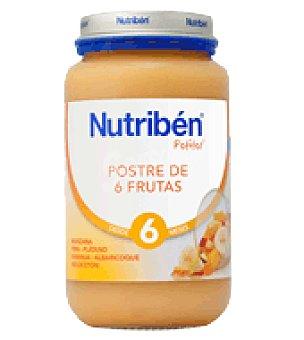 Nutribén Potito Postre de 6 Frutas 250 g