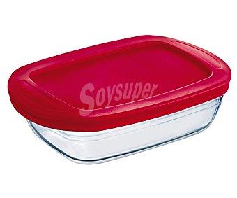 Ocuisine Recipiente rectangular con tapa apto para horno y microondas, 0,35 litros de capacidad 1 unidad