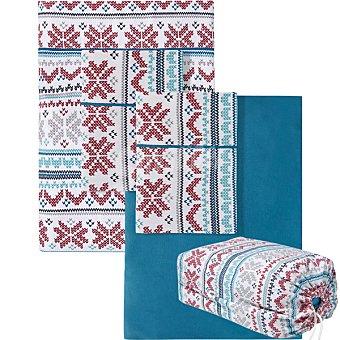 Unit Tricot juego de sabanas franela Tricot para cama 105 cm con bolsa para regalo