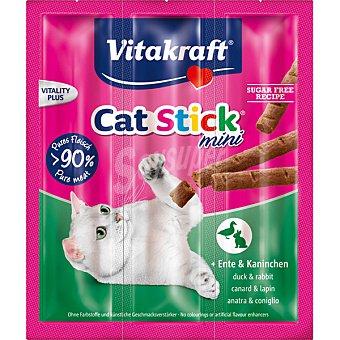 Vitakraft Snack mini para gato con pato y conejo pack 3 envase 6 g 3 envases de 6 g