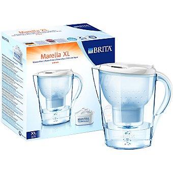 BRITA Marella XL Jarra de filtro en color blanco de 3,5 l