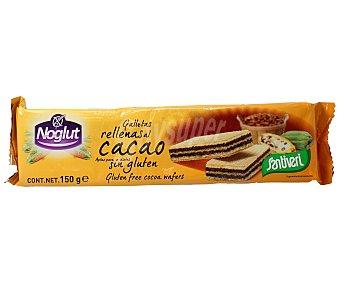 Santiveri Noglut Galletas de barquillo rellenas de cacao sin gluten Envase 150 g