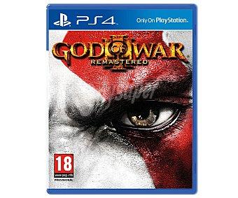 Acción Videojuego God of War 3, remasterizado para Playstation 4. Género: acción. Recomendación por edad pegi: +18 3: Rem. Ps4