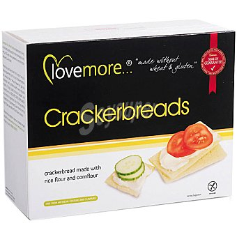 BIOGRAN LOVE MORE crackers de harina de arroz sin gluten  envase 125 g