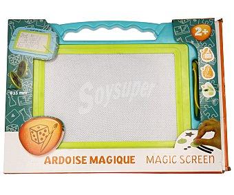 Productos Económicos Alcampo Pizarra mágica con lápiz y sellos magnéticos 1 unidad