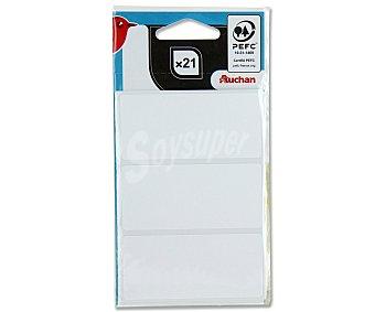 Auchan Bolsa con 21 etiquetas adhesivas blancas de 34X75 centímetos auchan
