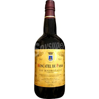 Los madroñales Vino dulce moscatel pasas Botella de 75 cl