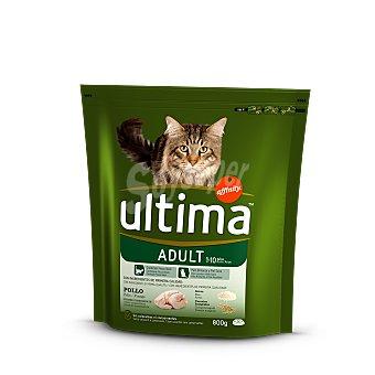 Ultima Affinity Pienso para gatos adultos a base de pollo y arroz con alta digestibilidad Bolsa 800 g
