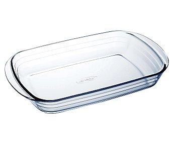 ARCUISINE Fuente rectangular de 39x24 centímetros y fabricada en cristal con 2 pequeñas asas para un fácil agarre 1 Unidad