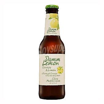 Damm Lemon Cerveza con limón Botella de 25 centilitros