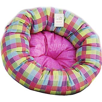 IMOR cuna redonda para mascotas modelo pequeño estampado con colores surtidos medidas 74x24 cm  1 unidad