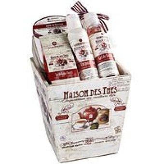 FLOR de MAYO Cesta de madera Tea Time Cherry pack 1 unid