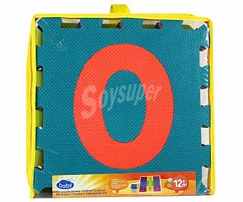 Baby Auchan Puzzle para Suelo 10 Piezas de Foam 1 Unidad