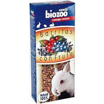 Biozoo Axis Barritas con frutas para conejos enanos Envase 2 unidades