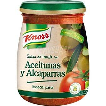 Knorr Salsa de tomate con aceitunas y alcaparras Frasco 260 ml