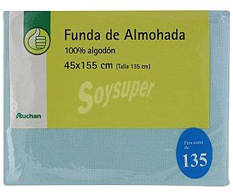 Productos Económicos Alcampo Funda de almohada, color azul, 135 centímetros 1 Unidad