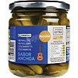 Pepinillos sabor anchoa Frasco 190 g Eroski