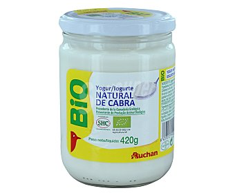 Auchan Yogur natural de cabra ecológico 420 gramos