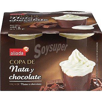 Aliada Copa de chocolate y nata Pack 4 unidades 100 g