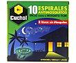 Insecticida especial mosquitos en espirales 10 uds Cuchol