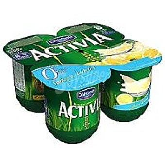 Activia Danone Activia 0% sabor limón 4x125g