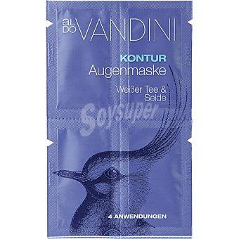 Aldo Vandini Mascarilla contorno de ojos con té blanco & seda 4 x 2,5 ml 4 aplicaciones bolsa 10 ml bolsa 10 ml