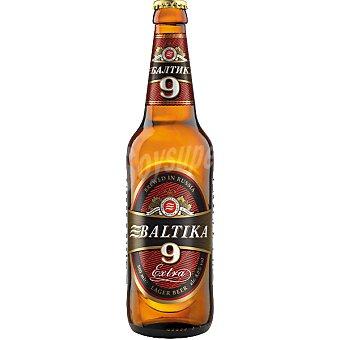BALTIKA 9 Extra Cerveza rubia Lager de Rusia Botella 50 cl