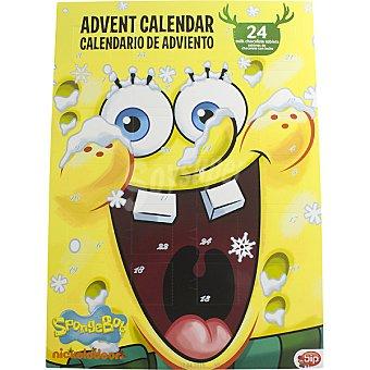 BIP CANDY Bob Esponja Calendario de Adviento con chocolates Envase 50 g