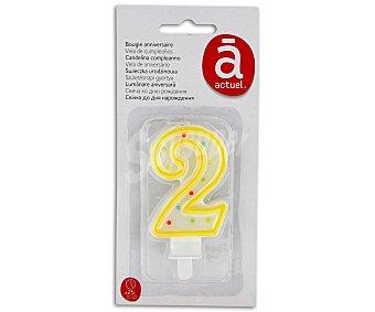 Auchan Vela de cumpleaños número 2 1 Unidad
