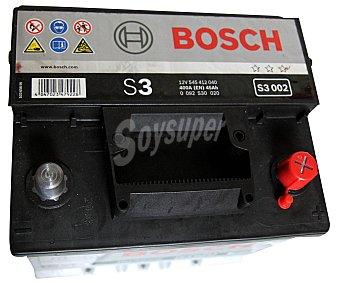 Bosch Batería de automóvil de 12v 45 Ah, con potencia de arranque de 400 Amperios 1 unidad