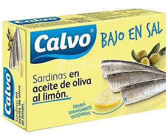 Calvo Sardinas en Aceite de Oliva al Limón Bajas en Sal 81 Gramos Peso Escurrido