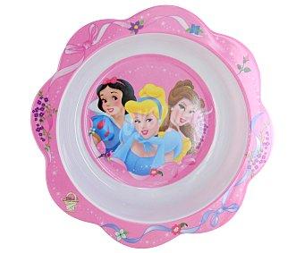 Disney Plato hondo pequeño o cuenco de melamina con ilustraciones de Princesas Disney y borde color rosa 1 Unidad