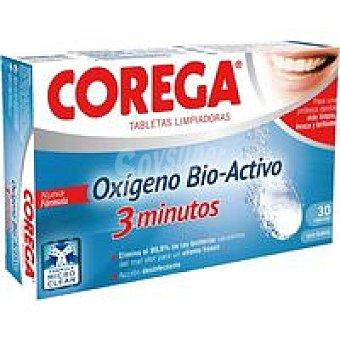 Corega Tabletas limpiadoras oxigeno Bio-Activo Caja 30 unid